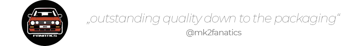 """""""outstanding quality down to the packaging"""" - mk2fanatics"""